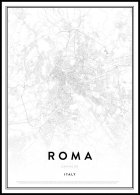 Map of Roma Poster