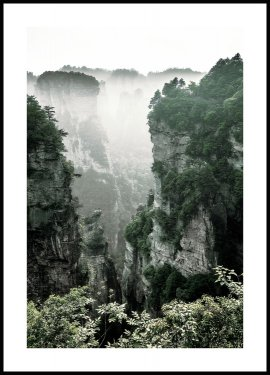 Mountain Tops in Mist Poster