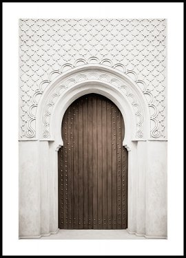 Brown Door Poster