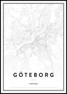 Map of Göteborg Poster