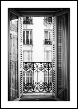 Paris Window Poster