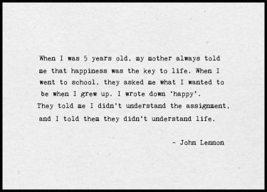 John Lennon Happy Poster