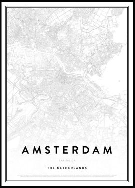 Map of Amsterdam Poster