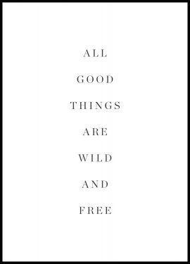 Wild and free Poster