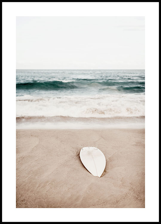 Beach Surfboard Poster