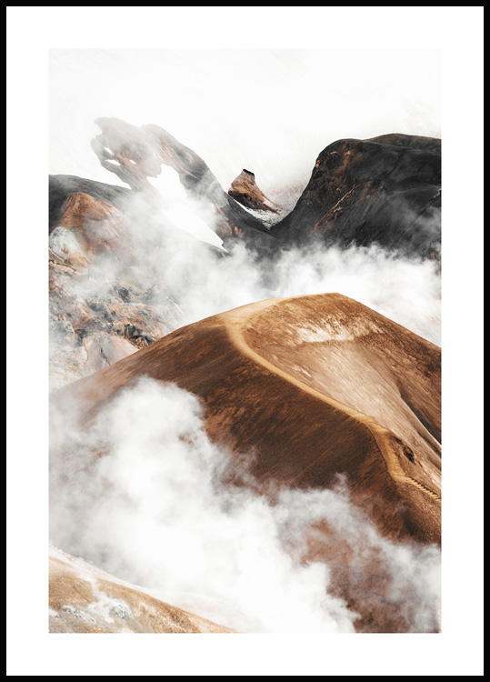 Cloudy Mountain Poster