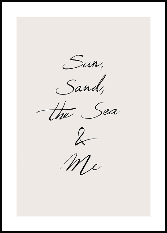 The Sun & Me Poster