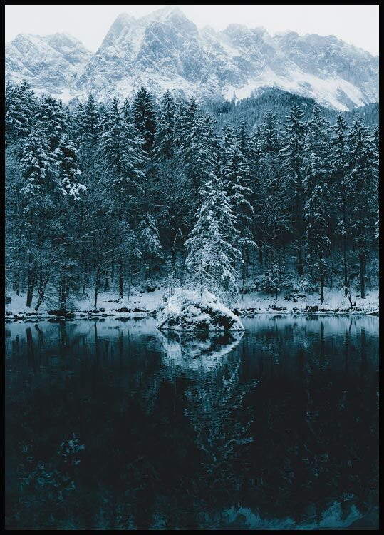 Winter Lake Poster